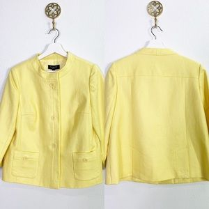 NWT Talbots yellow linen jacket 10p $169